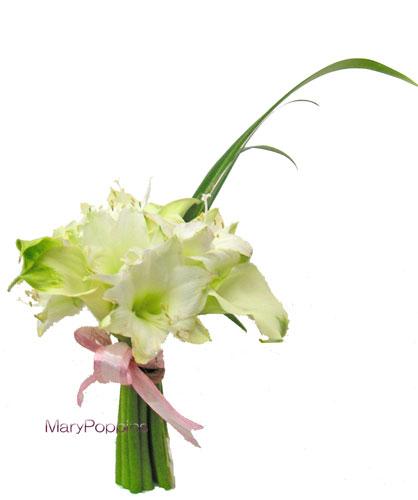 アマリリスとカラーの花束