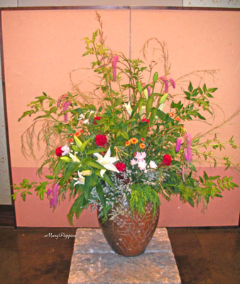 唐糸草とソケイのアレンジ