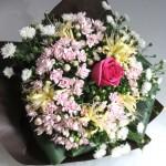 ブバルディアとクジャクソウの花束