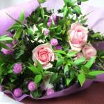 マートルとバラの花束