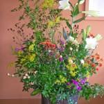 ワレモコウとスプレー菊