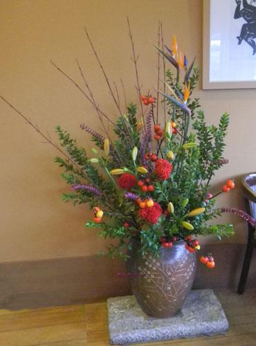 花茄子と銀梅花