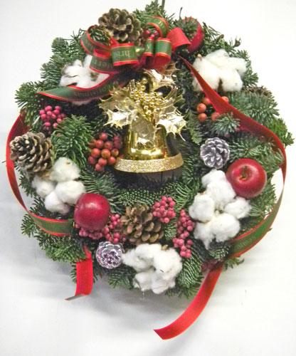 フレッシュ・樅の木のクリスマスリース
