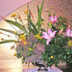 ルドベキアとスモークツリーのアレンジ
