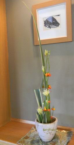 リコリスと花ナスのアレンジ