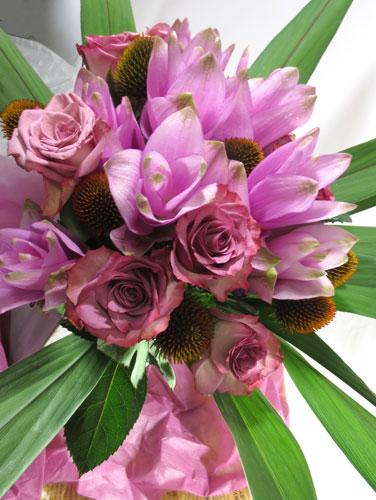 クルクマとエキナセアの花束